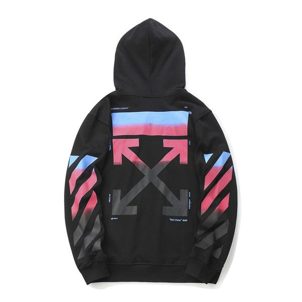 7b1eaf7a929c Wholesale cheap gender -18fw off ow white gradient colorful arrow hoodie  men and women sweater long sleeve jacket m-2xl from Chinese men s hoodies  ...
