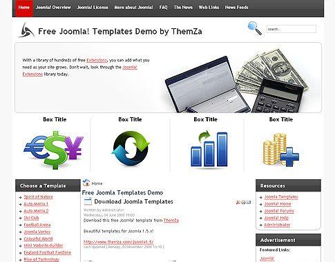 wwwvictoonet financial-calculator-free-joomla-template-96 - marketing calculator template