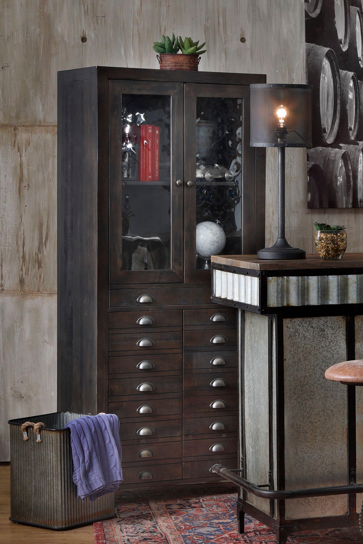 Sedona 2 Door Curio Cabinet In 2020 Loft Design Cabinet Tall Cabinet Storage