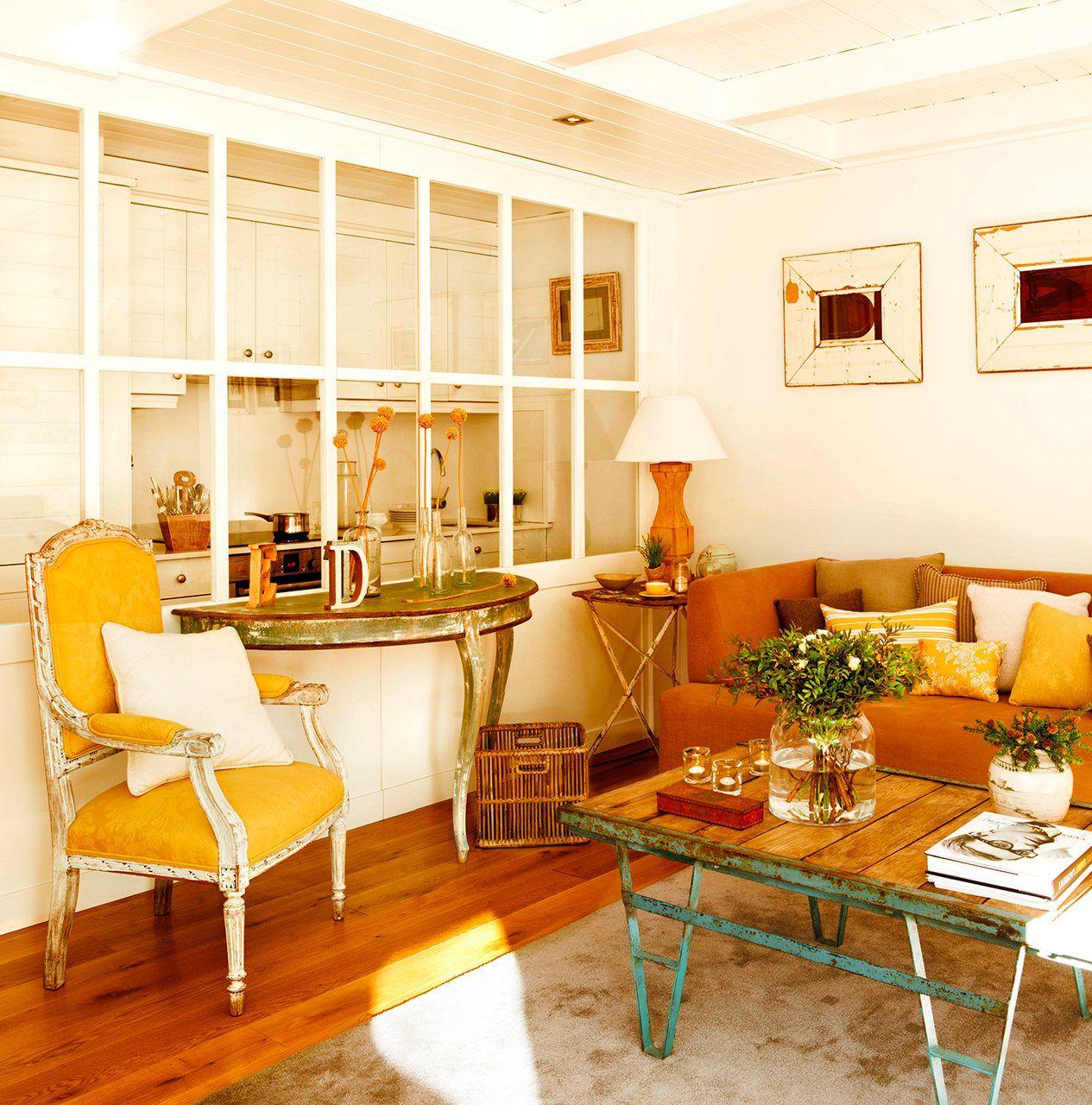 30 salones peque os y confortables sal n peque o for Muebles para salon pequeno