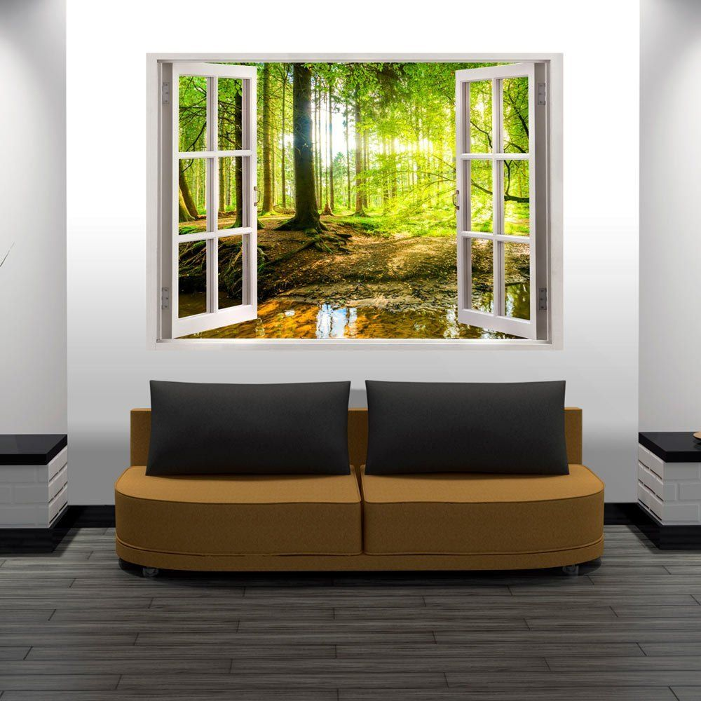 3d wandillusion wandbild fototapete poster xxl fensterblick vlies leinwand panorama bilder. Black Bedroom Furniture Sets. Home Design Ideas