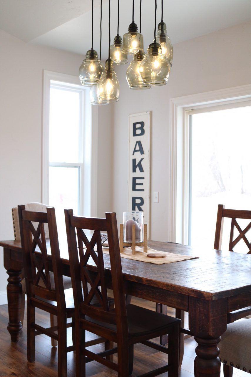 Modern Farmhouse Kitchen Reveal Farmhouse kitchen tables
