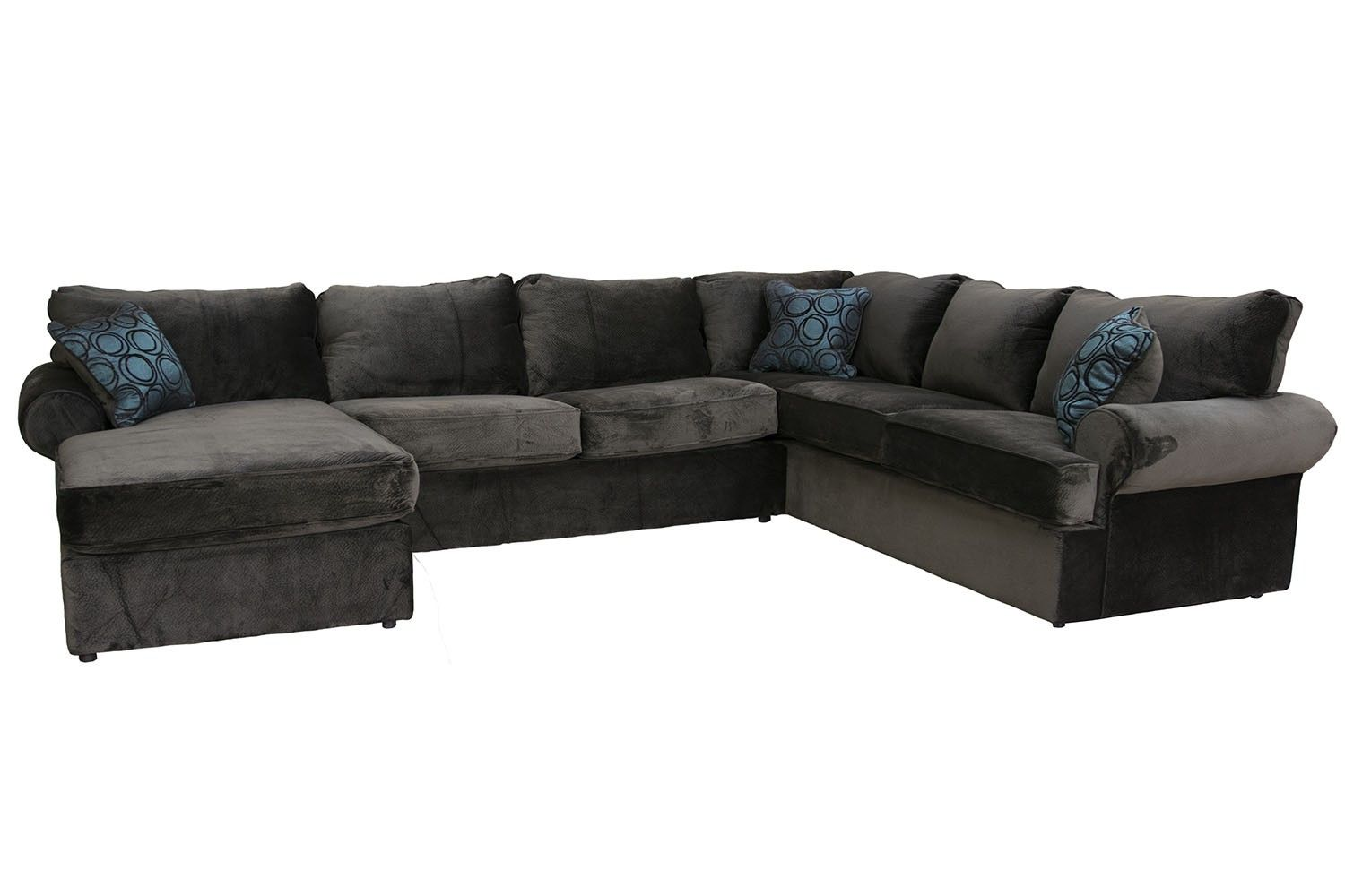 2 chaise napa chocolate left facing sectional. Black Bedroom Furniture Sets. Home Design Ideas