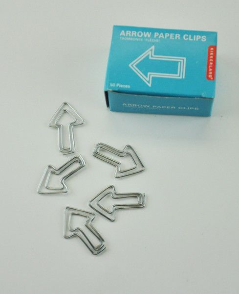 Arrow Paper Clips 50Ct by Kikkerland - #StudioCalicoPinToWin