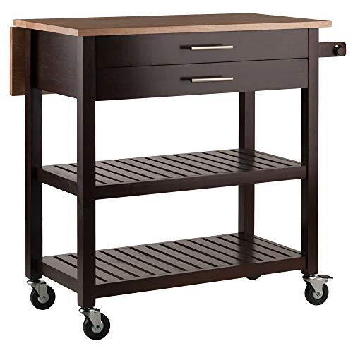 Amazon Com Winsome Wood 40826 Langdon Cart Kitchen Cappuccino