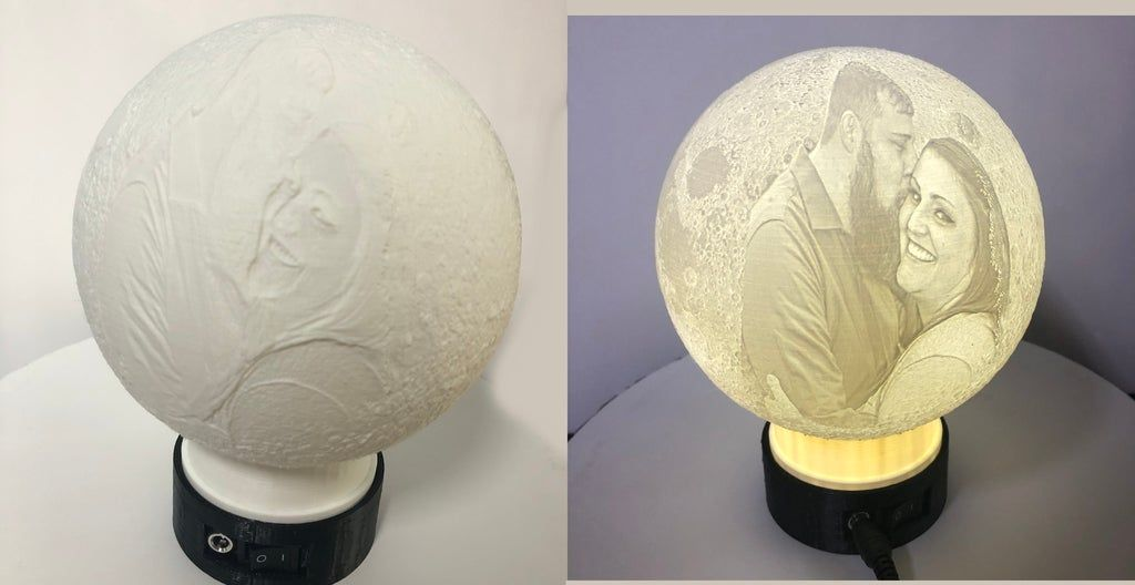 Lithophane Globe Led Stand By Justindp2006 In 2020 Globe Led Hidden Wiring