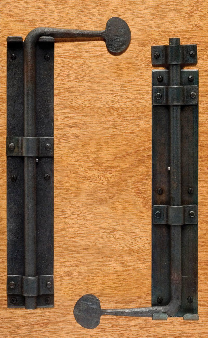 Barn door latches - Barn Door Cane Bolt When Two Doors Come Together Without A Post In The Center Of