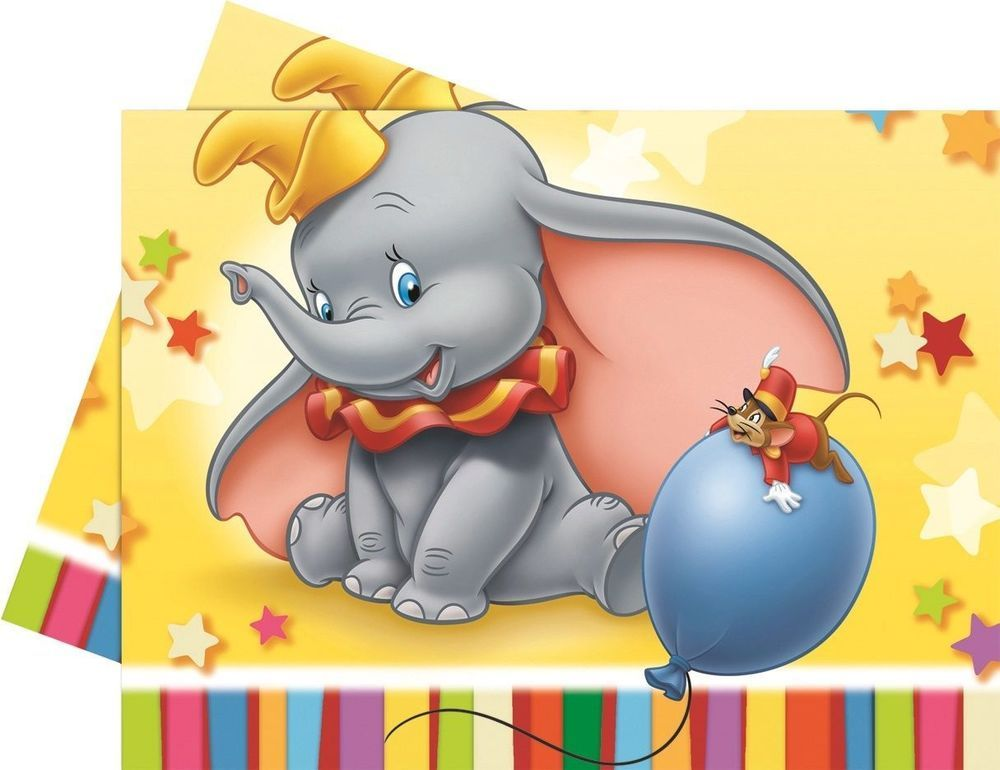 Disney Dumbo Plastic Tablecloth Elephant Large Birthday Party Boys Fun Bright Dumbo Baby Shower Theme Boy Birthday Parties Dumbo Birthday Party