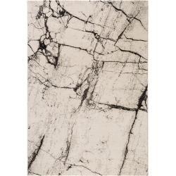 benuta Trends Kurzflor Teppich Victor Beige/Schwarz 240×340 cm – Moderner Teppich für Wohnzimmerbenu