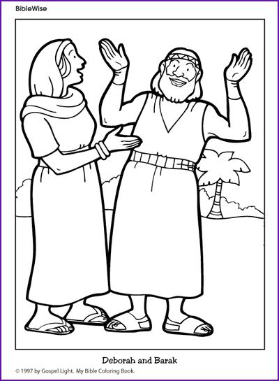bible coloring pages about deborah - photo#10