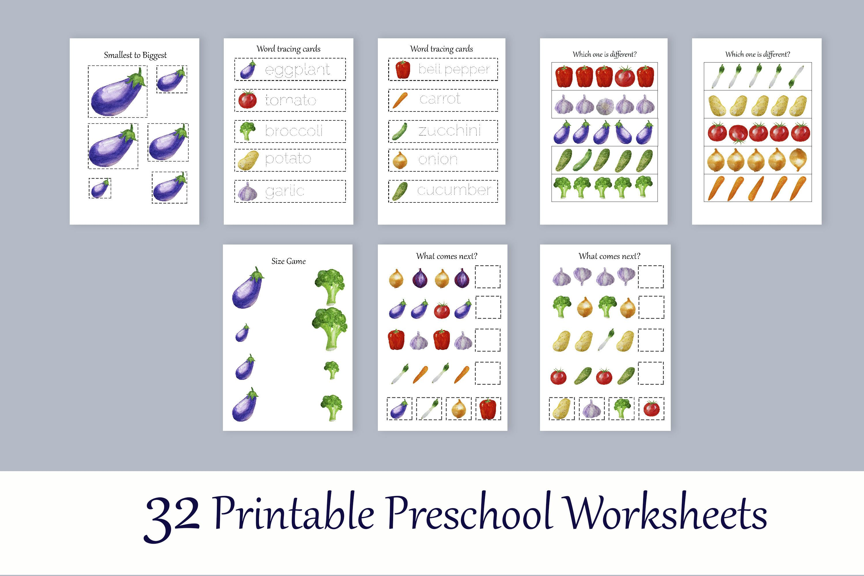 Toddler Learning Workbook Vegetables Busy Book By