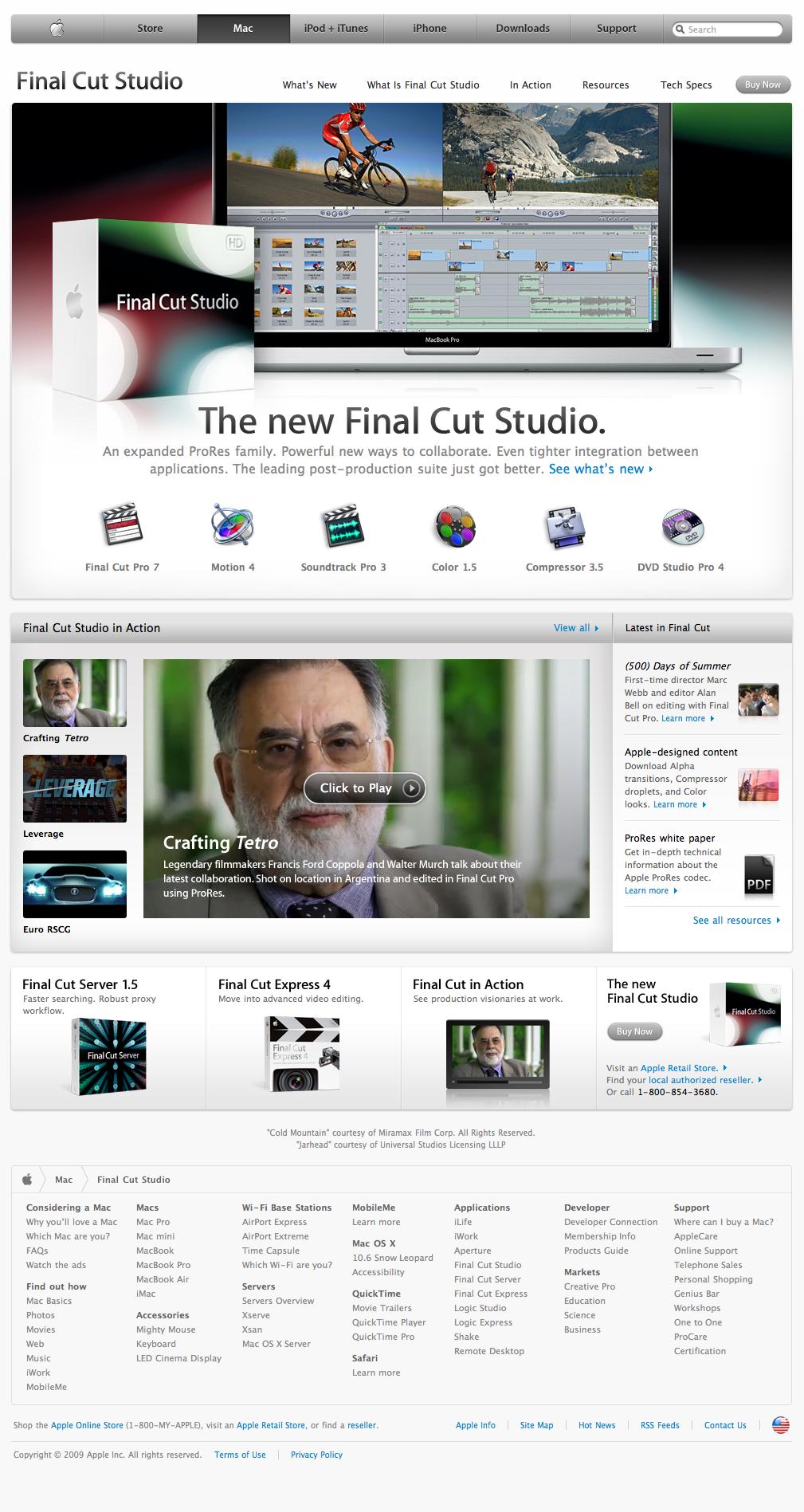 Apple - Final Cut Studio (25 07 2009)   Apple com sick