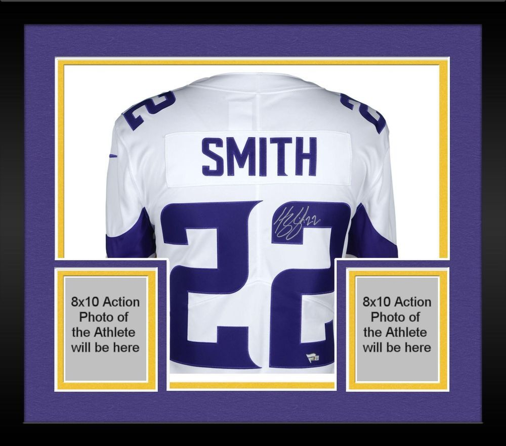 f639d23d3d9 Framed Harrison Smith Minnesota Vikings Autographed White Nike Limited  Jersey