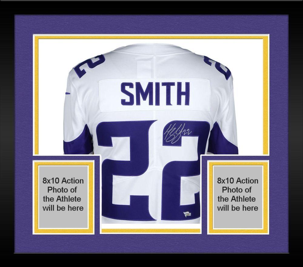 d637e421d Framed Harrison Smith Minnesota Vikings Autographed White Nike Limited  Jersey