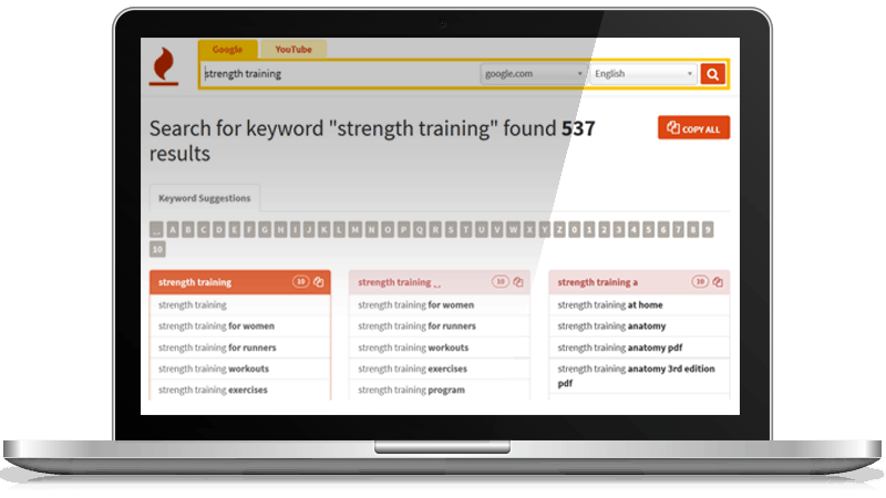 Keywordtool Io Group Buy Is A Very Useful And Simple To Use Keyword Tool Which Shows Up Tens Of Thousands Of With Images Keyword Tool Strenth Training For Women Seo Tools