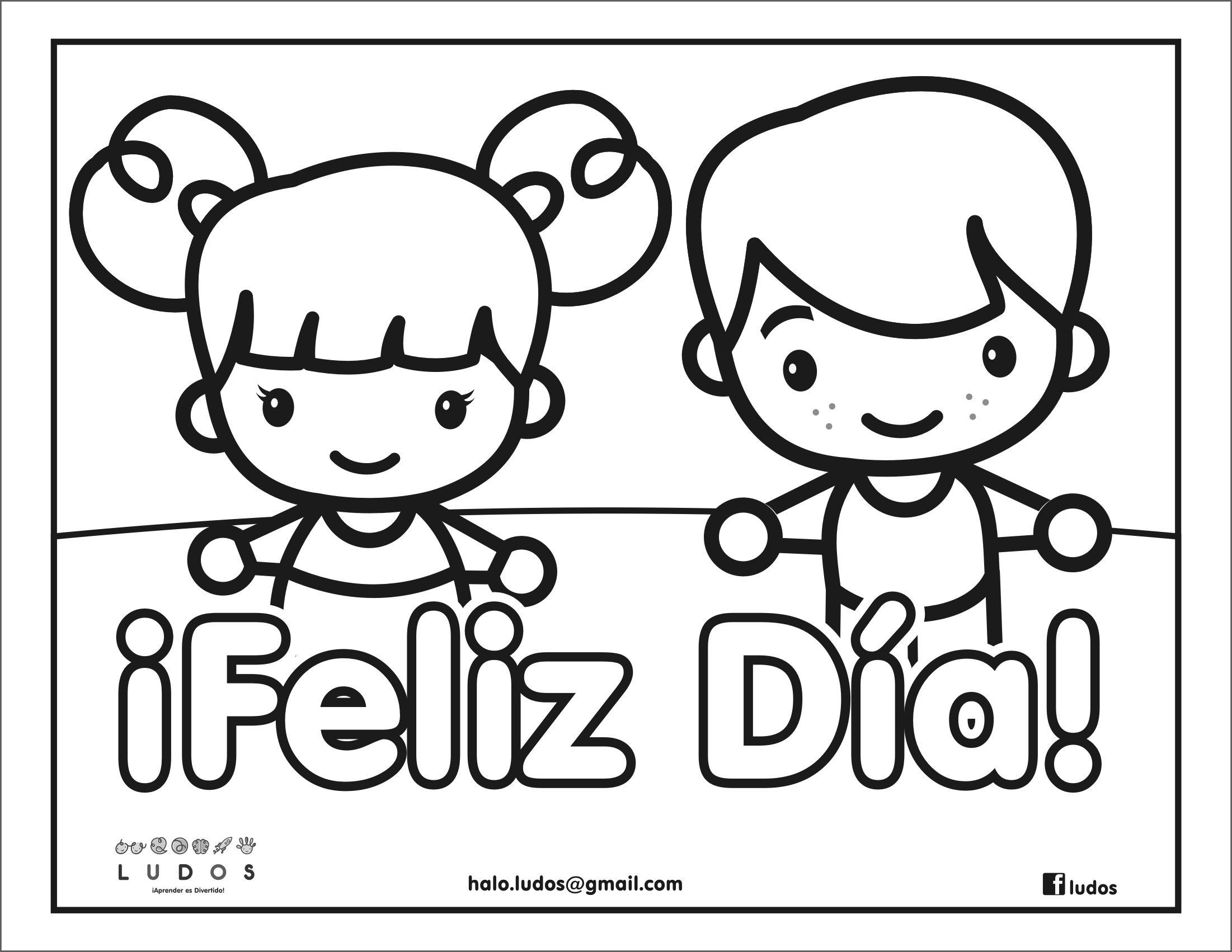 Día Del Libro Book Coloring Pages: Feliz Día Del Niño