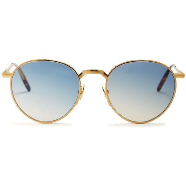 Ernest H. round-frame yellow-gold sunglasses John Dalia NG1va5XNNm