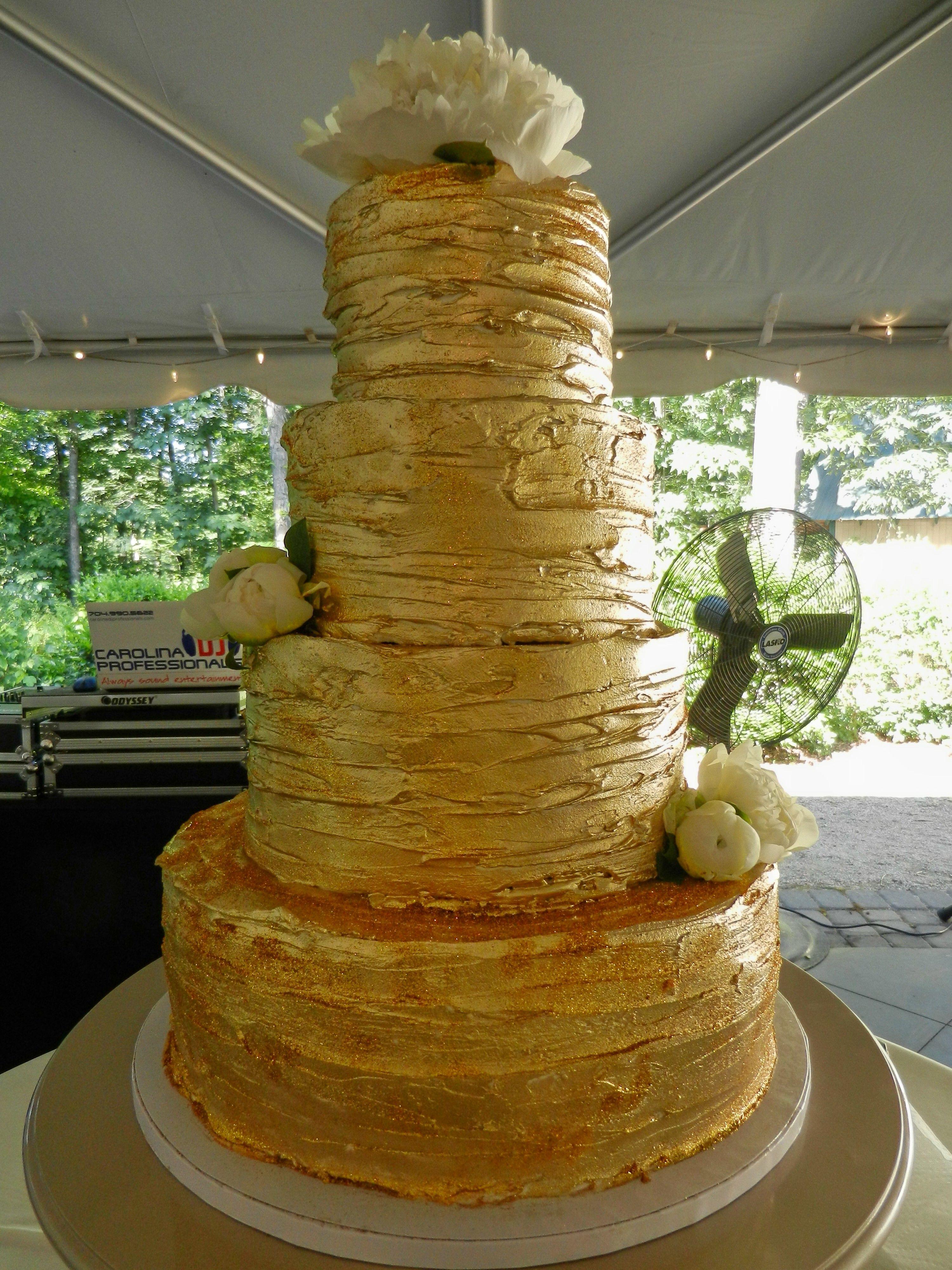 gold glitter wedding cake www,cheesecakeetc.biz wedding cakes ...