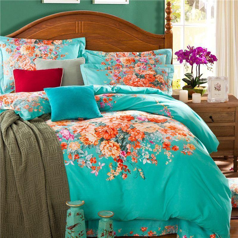 turquoisefloralbeddingsetgreenblueflower.jpg (800