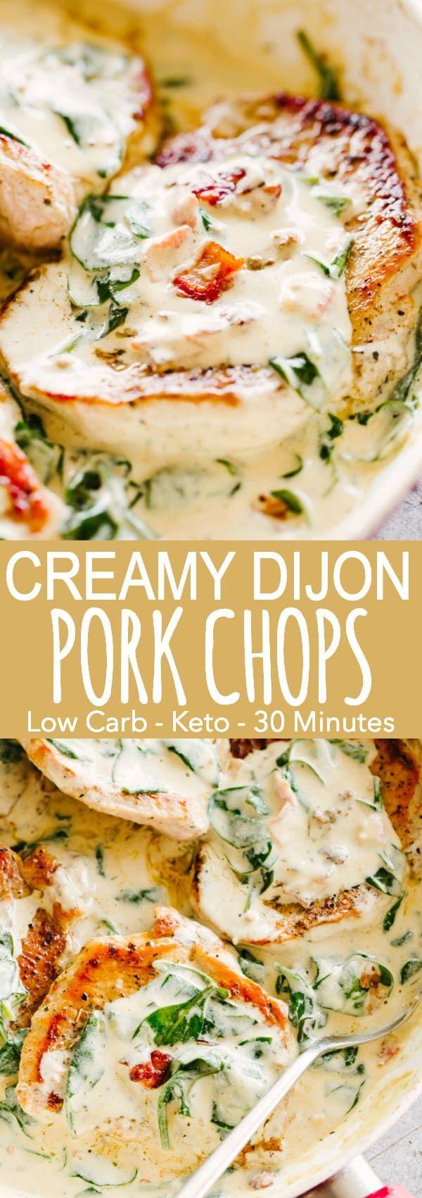 Creamy Dijon Pork Chops Recipe | Easy Pork Chops Recipes