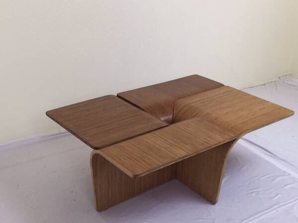 Modernist Bent Plywood Coffee Table C 1965 By Crowndora On Etsy Https Www Listing 261686078