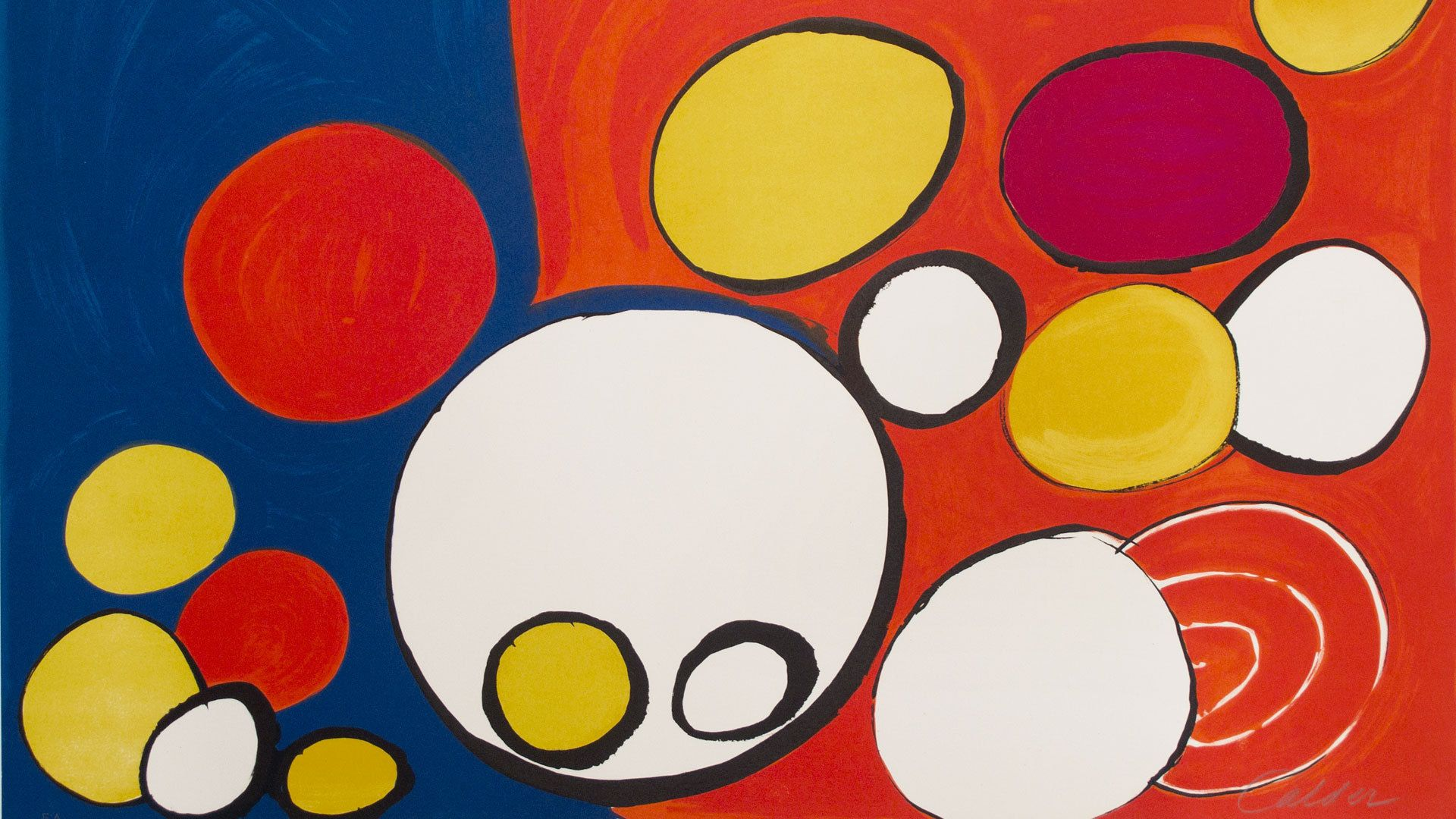 Circle With Eyes By Alexander Calder 1976 Lithograph With
