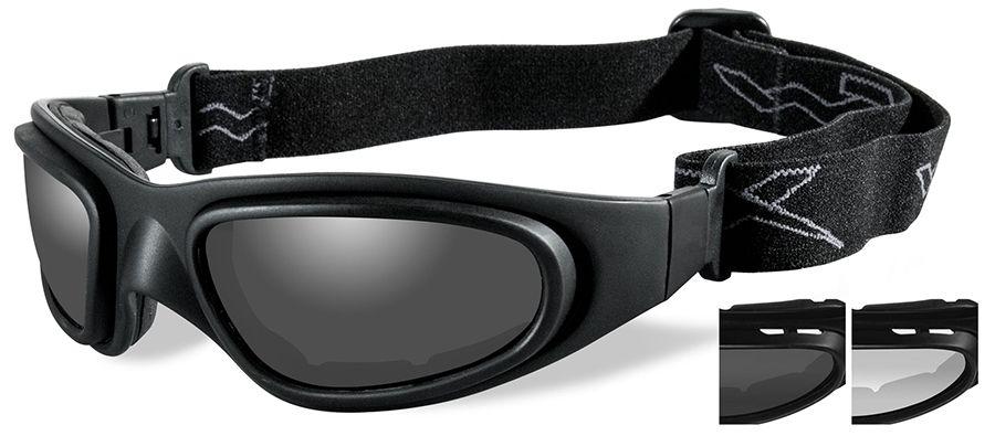 ab0822d40c8 Wiley X SG-1 V-Cut Ballistic Glasses Goggles with Matte Black Frame ...