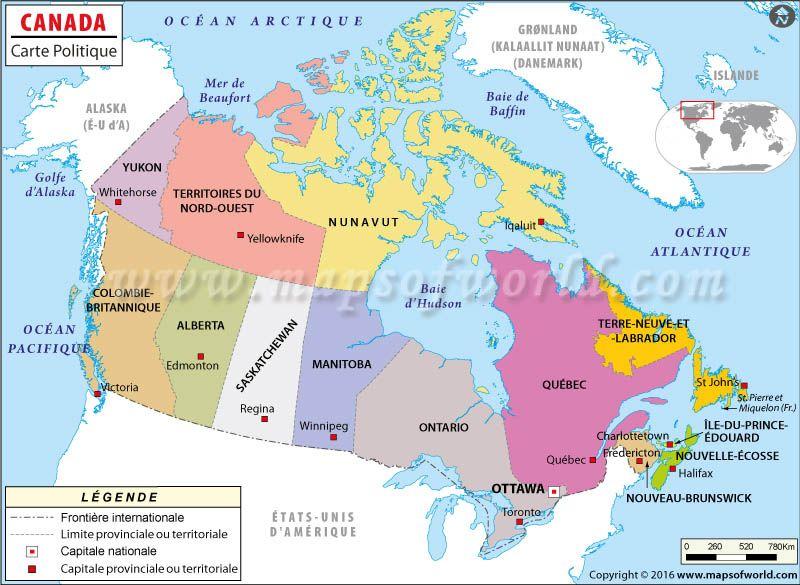 Carte Canada Edmonton.Carte Du Canada My Journey Map Country Maps Location Map