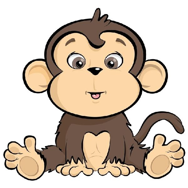 Monkey Sitting In A Bucket Cartoon Monkeys Grandsoncoming