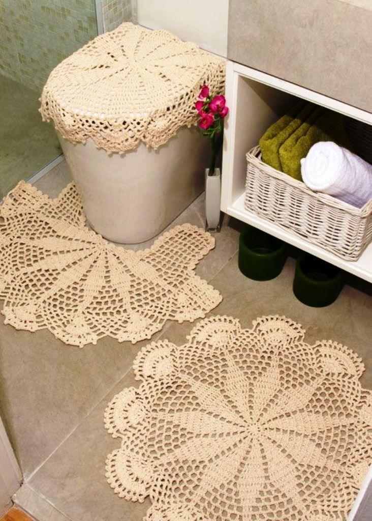 89656bc1765c Crochet for the bathroom | set de baños!! | Juegos de baño, Juegos ...