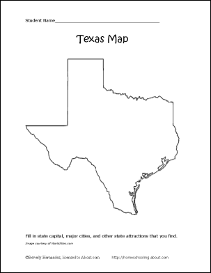 Free Map Of Texas.Learn About Texas With These Free Printables Texas History