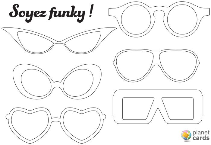 Accessoires photobooth t l charger gratuitement sch ma corporel photo booth glasses et - Lunette de soleil dessin ...