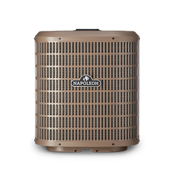 Napoleon's central air conditioning unit cools and