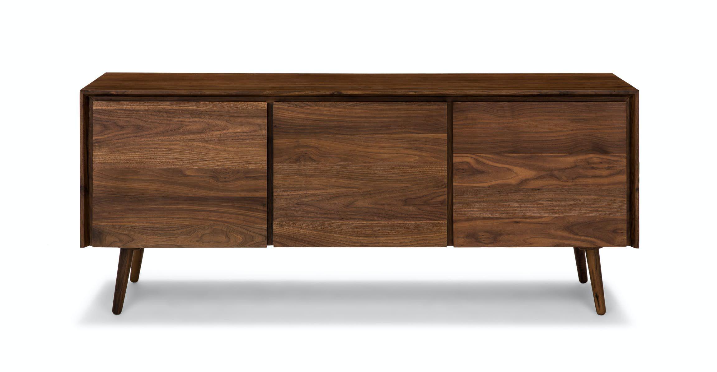 71 Black Walnut Sideboard Buffet Table Envelo Article In 2020 Modern Sideboard Scandinavian Furniture Sideboard Walnut Sideboard