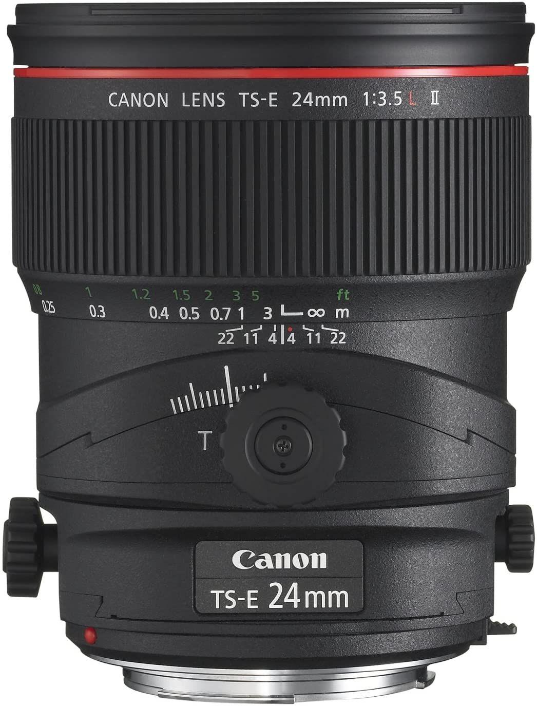 Canon tse 24mm f35l ii ultra wide tiltshift lens for