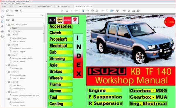 Isuzu Kb Tf 140 Workshop Manual Pdf Download Manual Workshop Repair Manuals