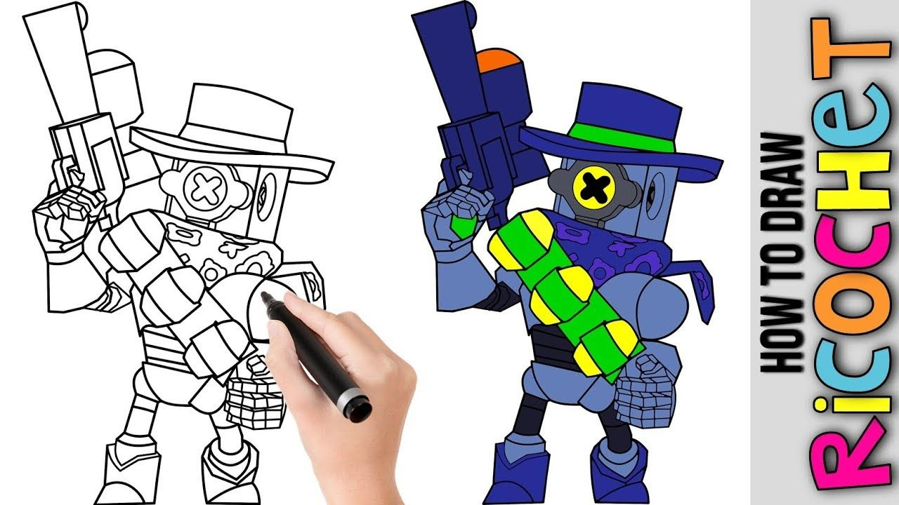 How To Draw Ricochet From Brawl Stars Cute Easy Drawings