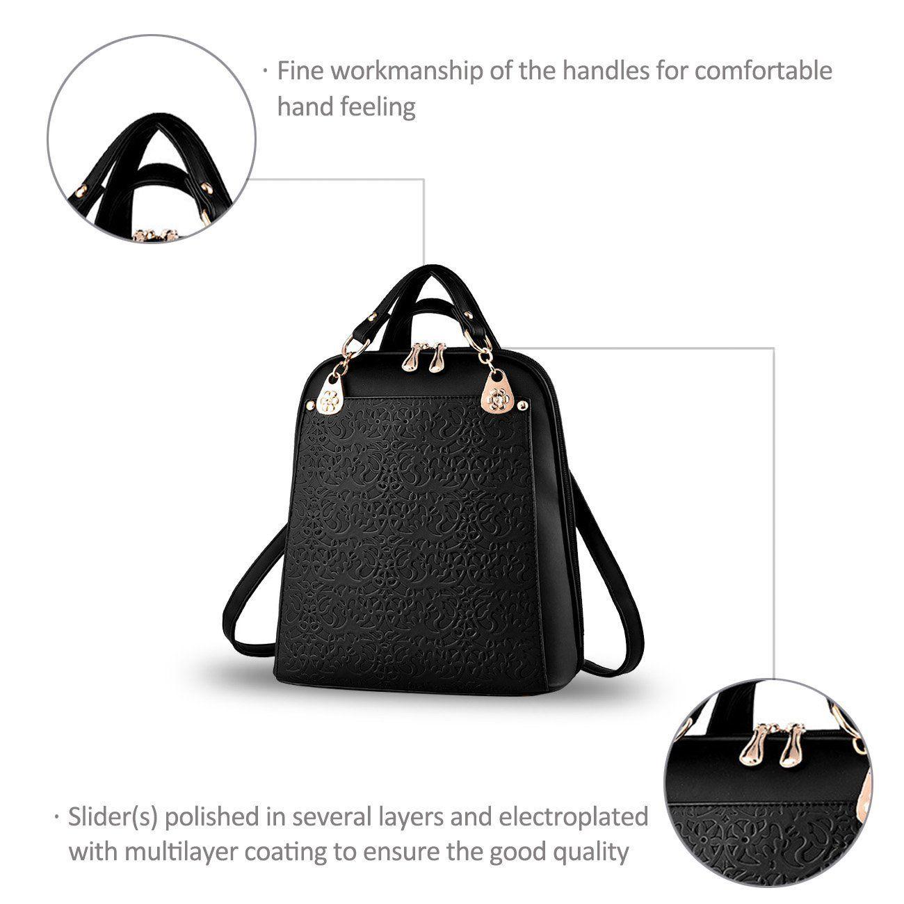 Nicole&Doris Borsa di viaggio nuovo retro di tendenza Boutique rilievo spalla borsa: Amazon.it: Valigeria