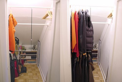 Deep And Dreaded Coat Closet Has Been Tamed Closet Under Stairs