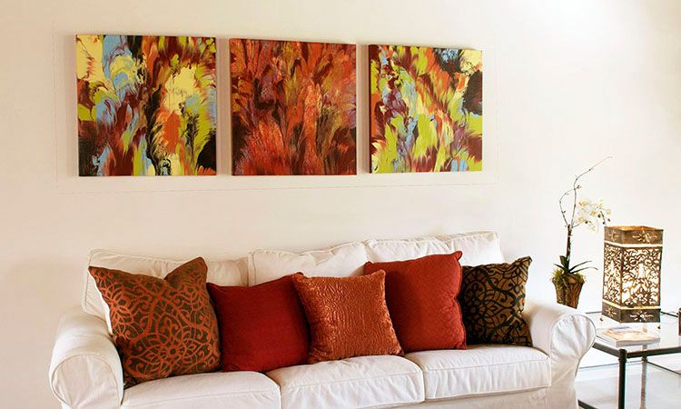 Those Vibrant Abstract Paintings Are Made From Leftover
