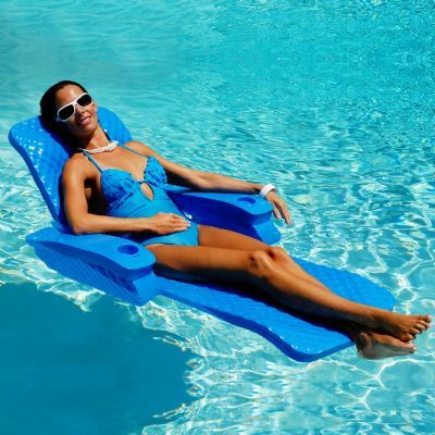 Folding Baja Ii Floating Pool Lounge For 219 99 Poolloungechairs Poolbeach