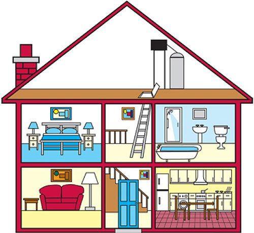 La casa actividades lenguaje pinterest partes de la for Amueblar casa completa
