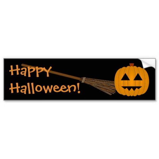 Happy halloween jack o lantern bumper sticker by www cheekywitch com
