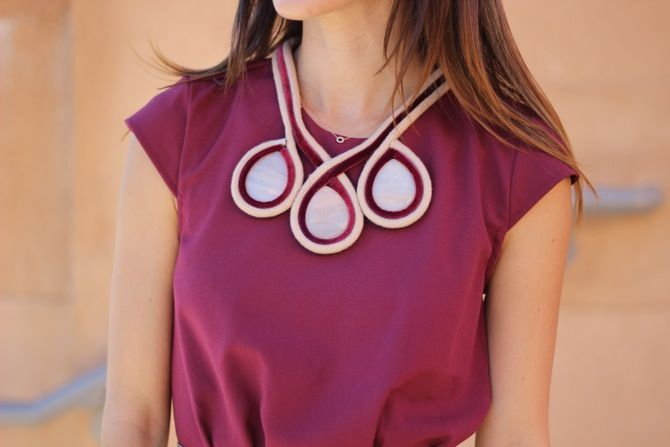 Dior Inspired DIY Necklace COLAR de cordão de veludo e pedras