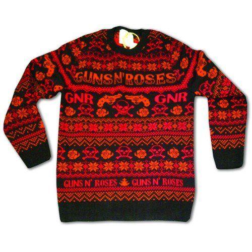 Guns N Roses Pistol And Skull Ugly Christmas Sweater Christmas