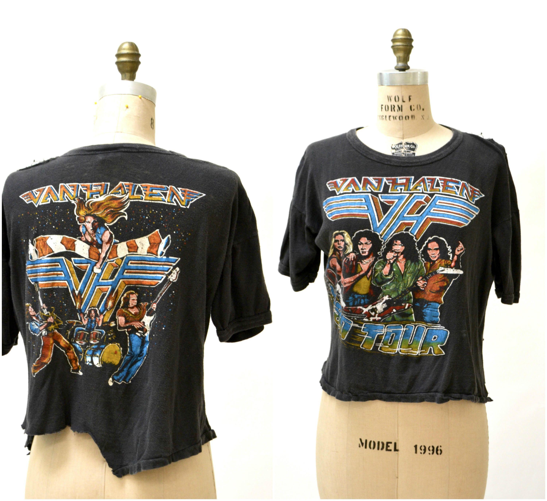 Vintage 1980 Van Halen T Shirt Tour Concert Tee Shirt Vintage Etsy Vintage Rock Shirt Concert Tees Van Halen