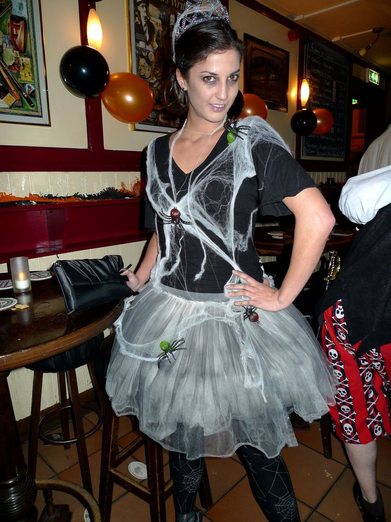 Spider Costume | Pipe insulation, Black tutu and Sequin shirt