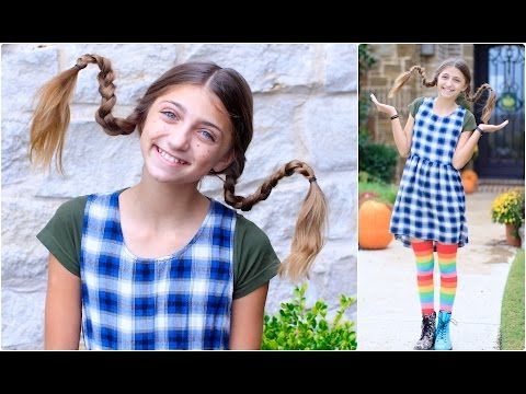 Pippi Longstocking Costume #crazyhairdayatschoolforgirlseasy