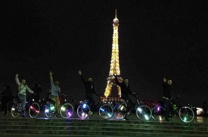 paris by night city of lights bike tour privatetours citytours