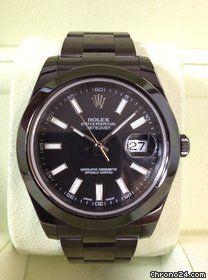 Rolex DATEJUST  II 2 DLC PVD Diablo black schwarz 116300